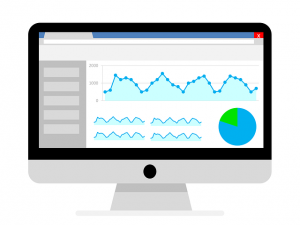 Ordenador con Google Analytics