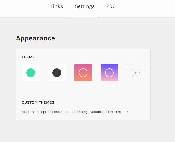 Personalizar colores de Linktree