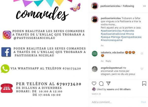 instagram pastisseria Nicolau