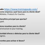 propuesta de valor de training peaks